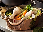 Pot-au-feu duck drumsticks