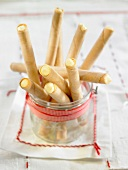 Cigarettes russes rolled biscuits filled with Catalan cream