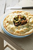 Chicken and lemon pot pie
