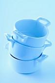Mini blue casserole dishes