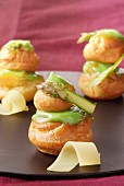 Asparagus and cheese savoury Religieuses