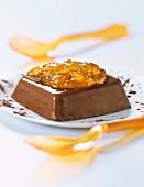 Bitter chocolate panacotta with orange marmelade