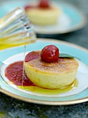 Small Flan with tomato puree and olive oil, Toscany