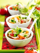 Vegetable and cod Minestrone