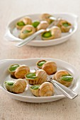 Snails stuffed with garlic and parsley