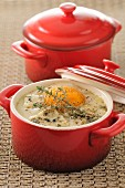 Coddled egg with roquefort