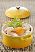 Coddled egg with mushrooms