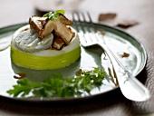 Scallop,leek,artichoke and mushroom Timbale