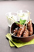 Caramelized pork kefta brochettes