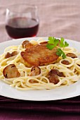 Linguini with ceps and duck Foie gras