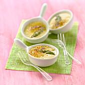 Asparagus and Pecorino Crème brûlée