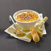 Peanut butter and sesame seed Crème brûlée