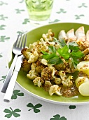 Chicken breast's and cauliflower with traditionnal mustard