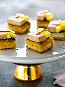 Pie gras,mango and pepper toasts