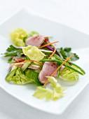 Free-range pork salad