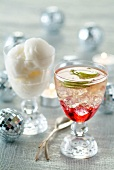 Champagne cocktail and Champagne sorbet