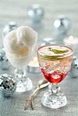 Champagner-Cocktail und Champagner-Sorbet