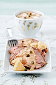 Roast veal with creamy tuna sauce