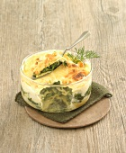 Spinach and lasagnes gratin