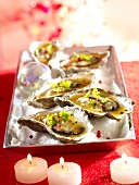 Oysters with passion fruit