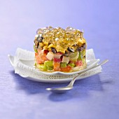 Crisp young vegetables with olive oil aspic