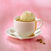 Coffee sundea with mascarpone whipped cream