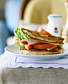 Turkey and mimolette toasted club sandwich