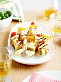 Tofu and vegetable brochettes
