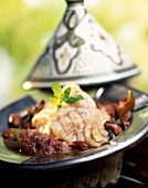 Fish Tajine with almonds and fresh figs