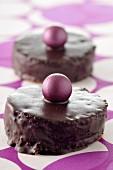 Dunkle Schokoladentörtchen