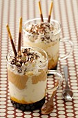 Coffee ice cream sundae