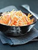 Grated carrot and radish salad