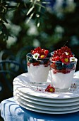 Fromage blanc mousse with summer fruit