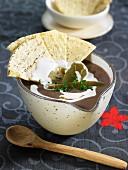 Cream of bean soup