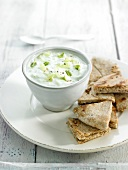 Goat's milk Kefir and cucumber Greek Tzatziki