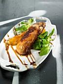 Roast foie gras with pears