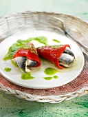 Del piquillo peppers stuffed with fresh anchovies