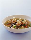 Consommé with shrimp wontons