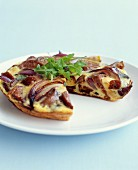 Sausage,red onion and sage omelette