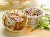 Provençal-style small soufflés, tuna-mustard