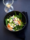 Warm spiny lobster salad