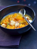 Pumpkin and scallop soup