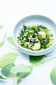 Potato and herb salad