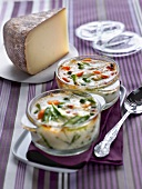 Vegetable and Tomme cheese bakes