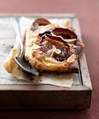 Quetsch plum thin pastry tart