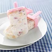 Homemade ice cream bars