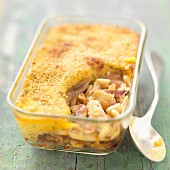 Oriental chicken Parmentier (French bake)