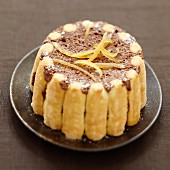 Chocolate and orange charlotte