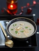 Cream of chestnut soup with foie gras