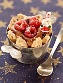 Chocolate and raspberry mini charlotte